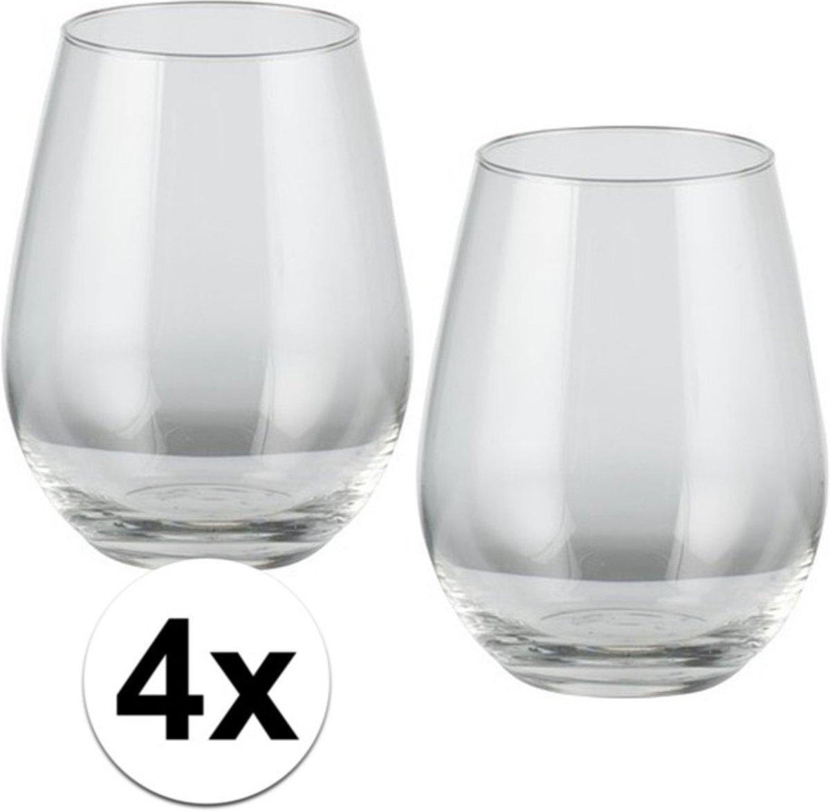 4x voordelige whiskey glazen - 350 ml - whiskeyglas kopen
