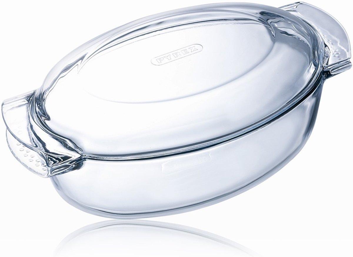 Pyrex Classic Schotel - Ovaal - Incl. Deksel - Borosilicaatglas - 4.5 l kopen