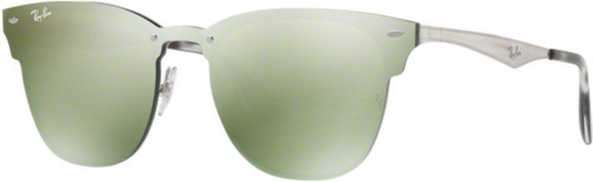 Ray-Ban Blaze RB3576N 042/30 - Zonnebril - Zilver/Groen - 47 mm kopen