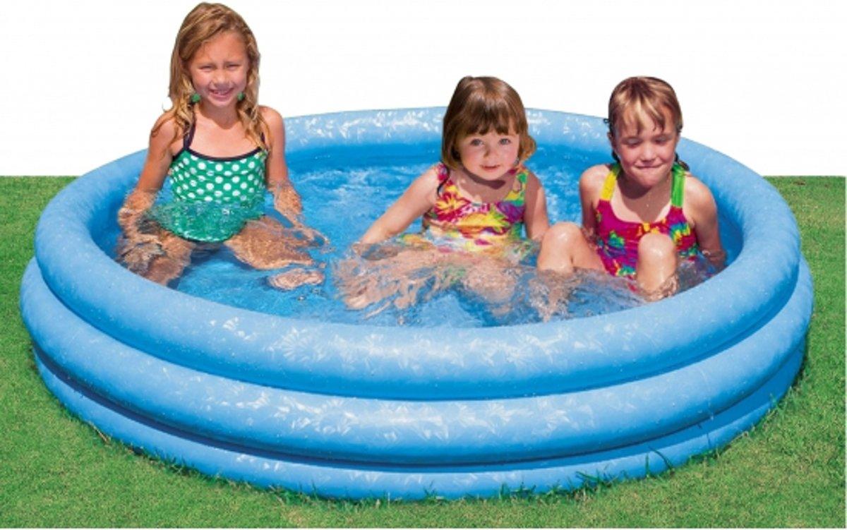 Zwembad rond blauw