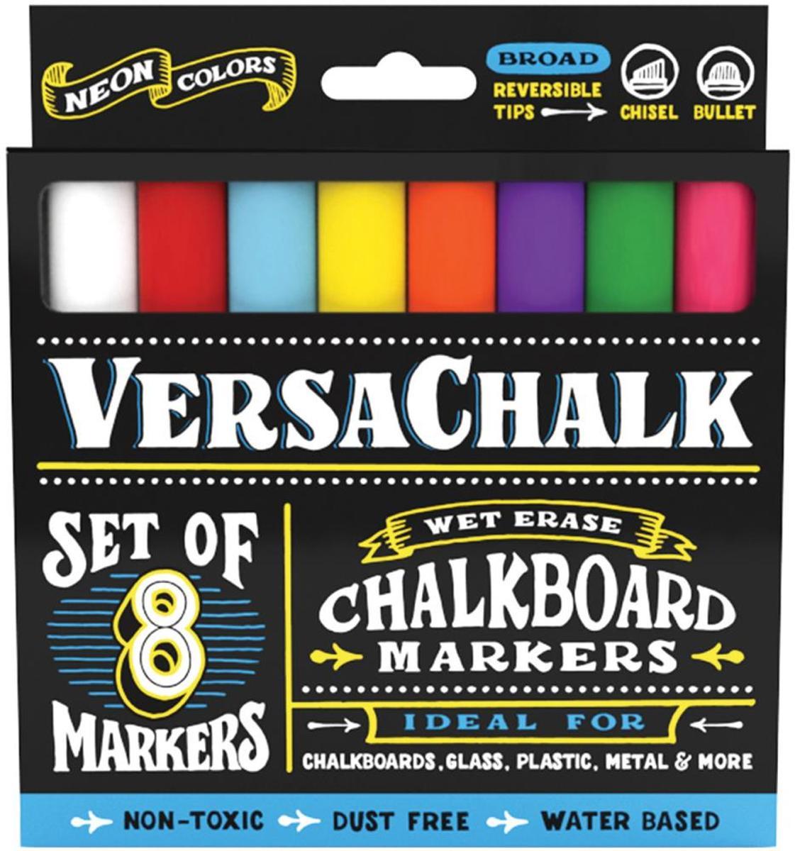 VersaChalk- Liquid Chalkboard Markers - bold- 10 stuks - Neon