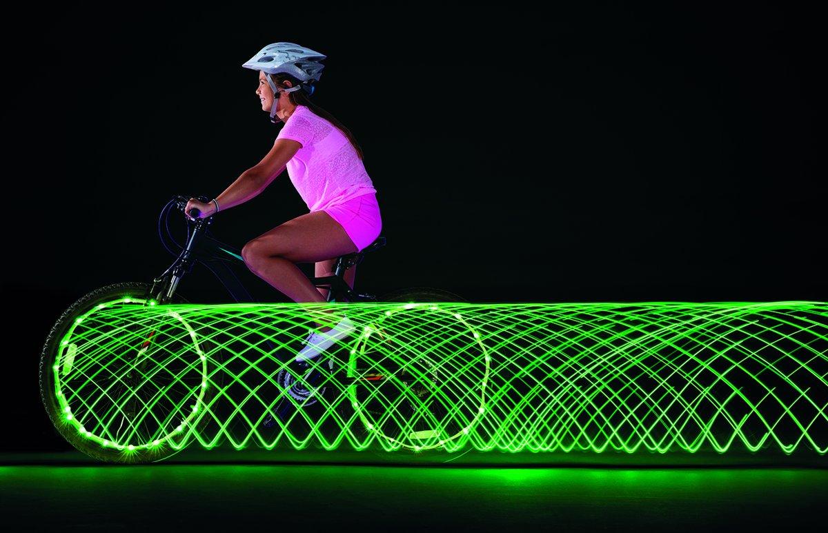 bol.com | Wheely Bright Bike Lightning Groen 2 stuks