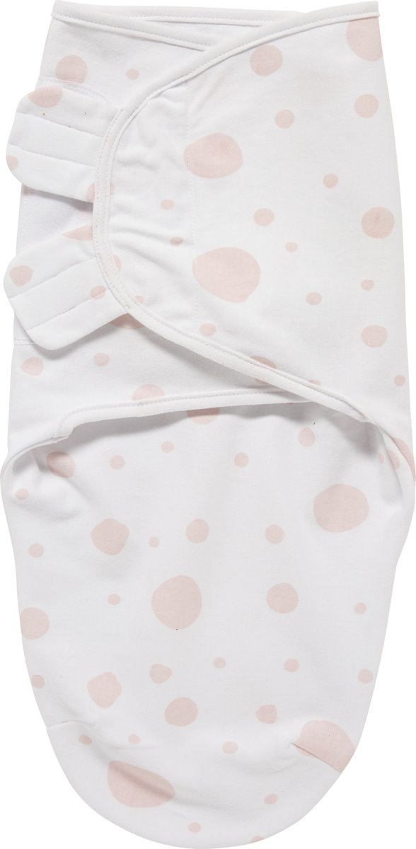 SwaddleMeyco Inbakerdoek - 4-6 maanden - Dots roze