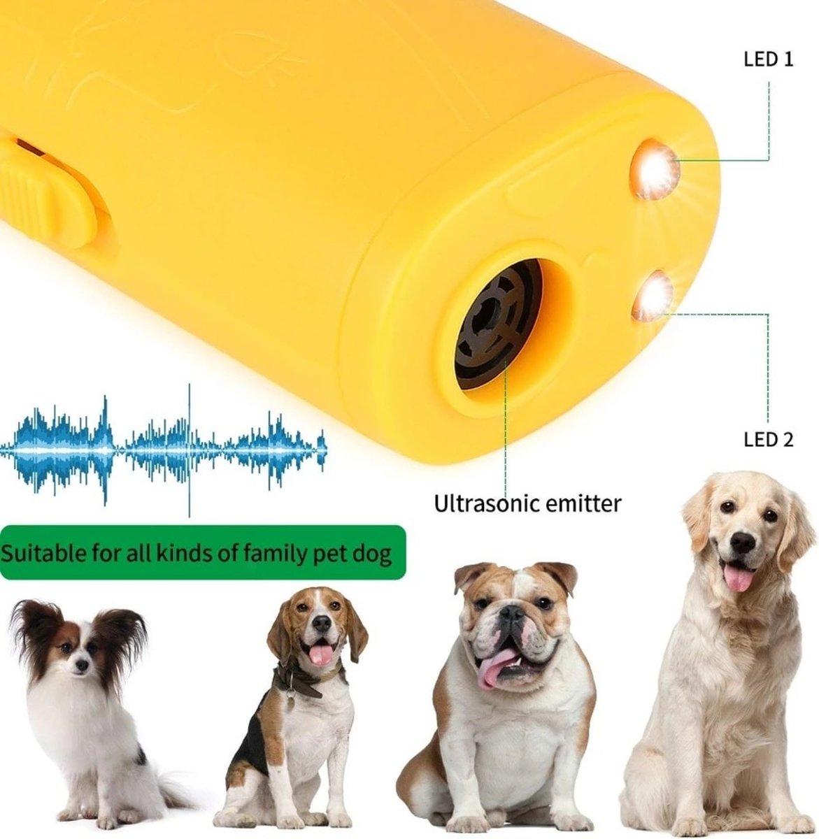 Anti Blaf Ultrasoon Apparaat - Geel kopen