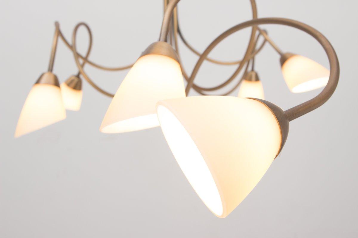 Steinhauer Lampen Onderdelen : Bol steinhauer elegance hanglamp lichts halogeen brons