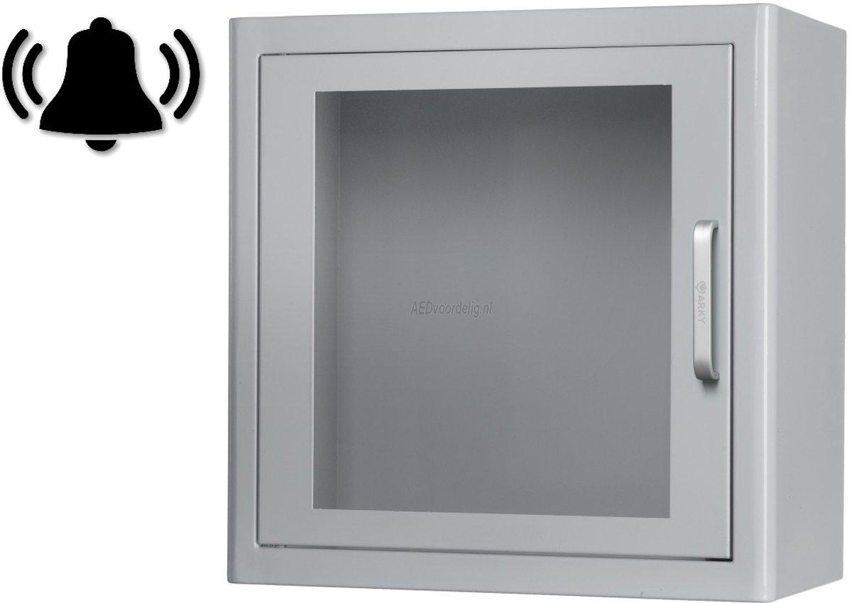 Foto van AED kast - Indoor - Met alarm - Wit