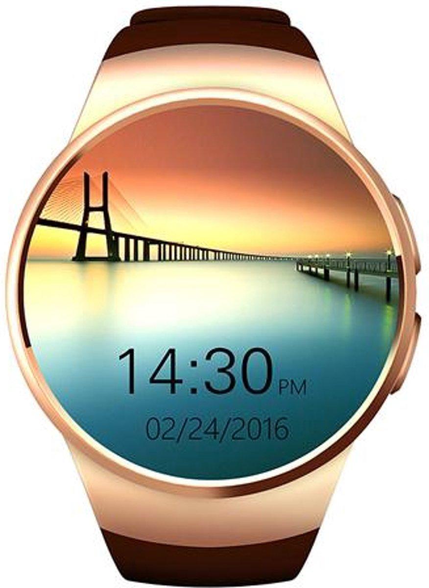 Afbeelding van Gouden Tradeuptodate.nl Kingwear KW18 - Smartwatch - Goud