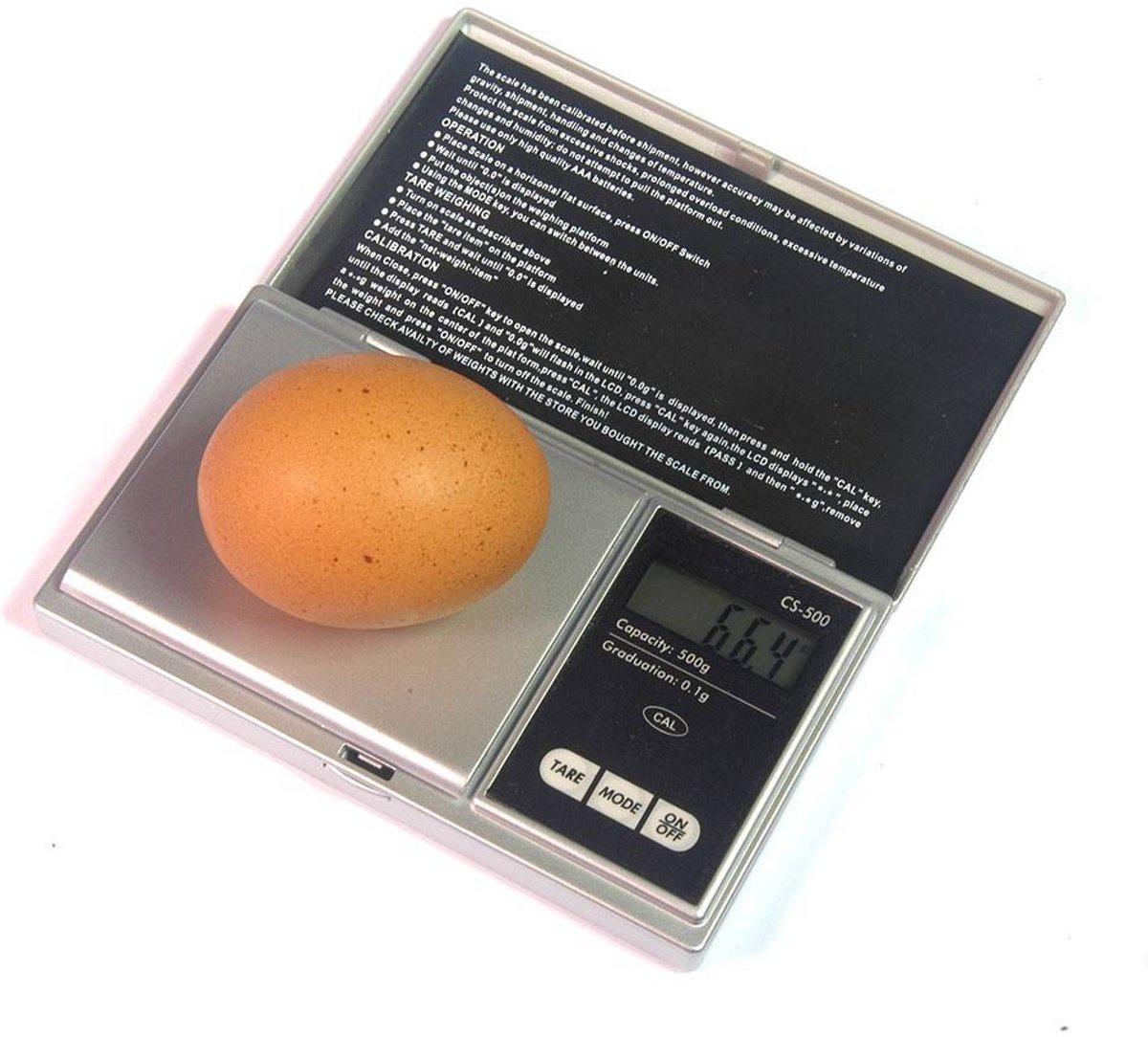 Digitale pocketweegschaal max. gewicht 500 gram kopen