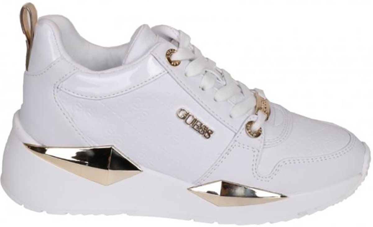GUESS TallynActive LadyLeather Lik Dames Sneakers Wit Maat 39
