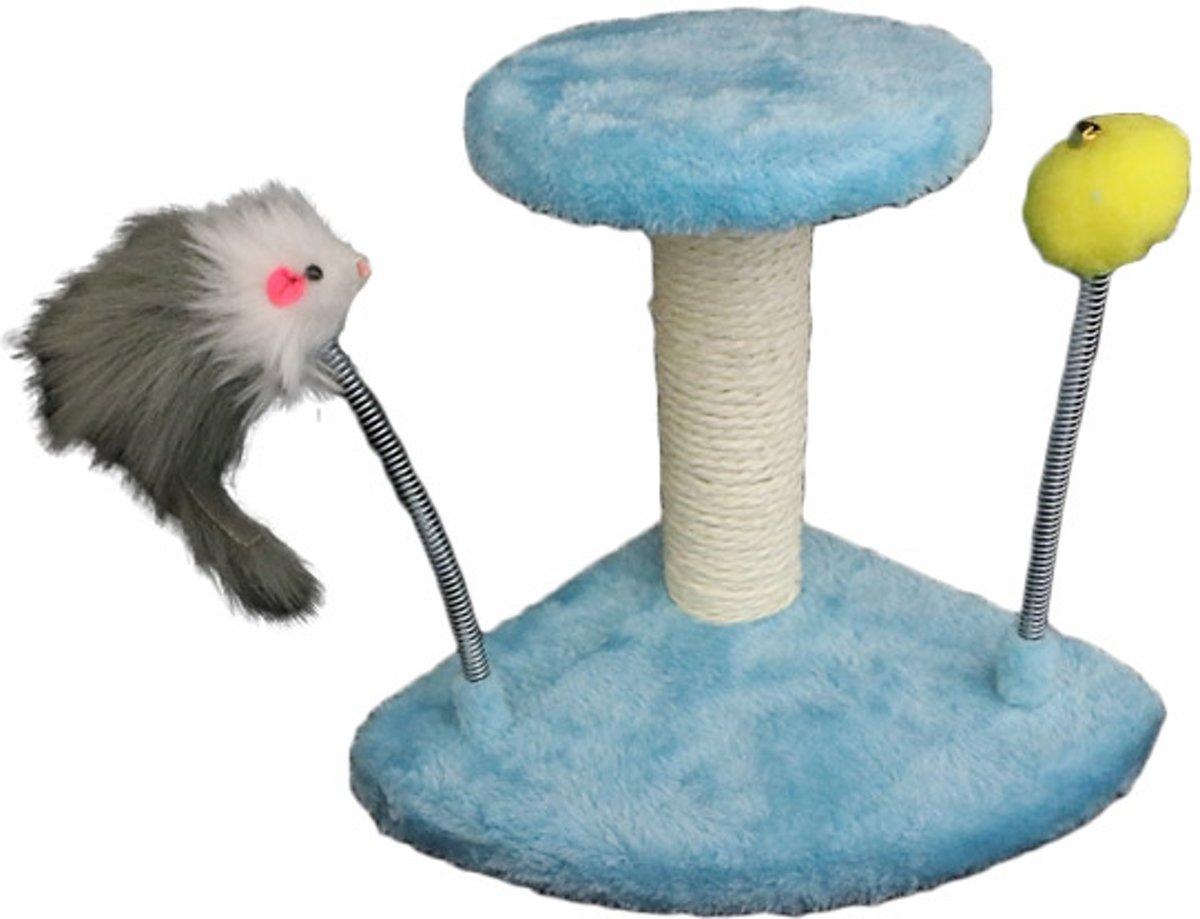 Krabpaal voor de kat in de kleur licht blauw