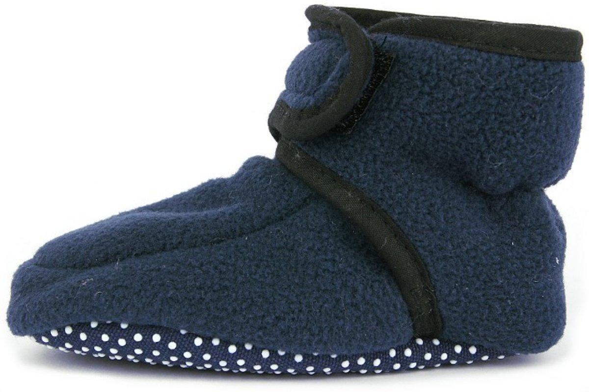 Playshoes babyslofjes fleece marine kopen