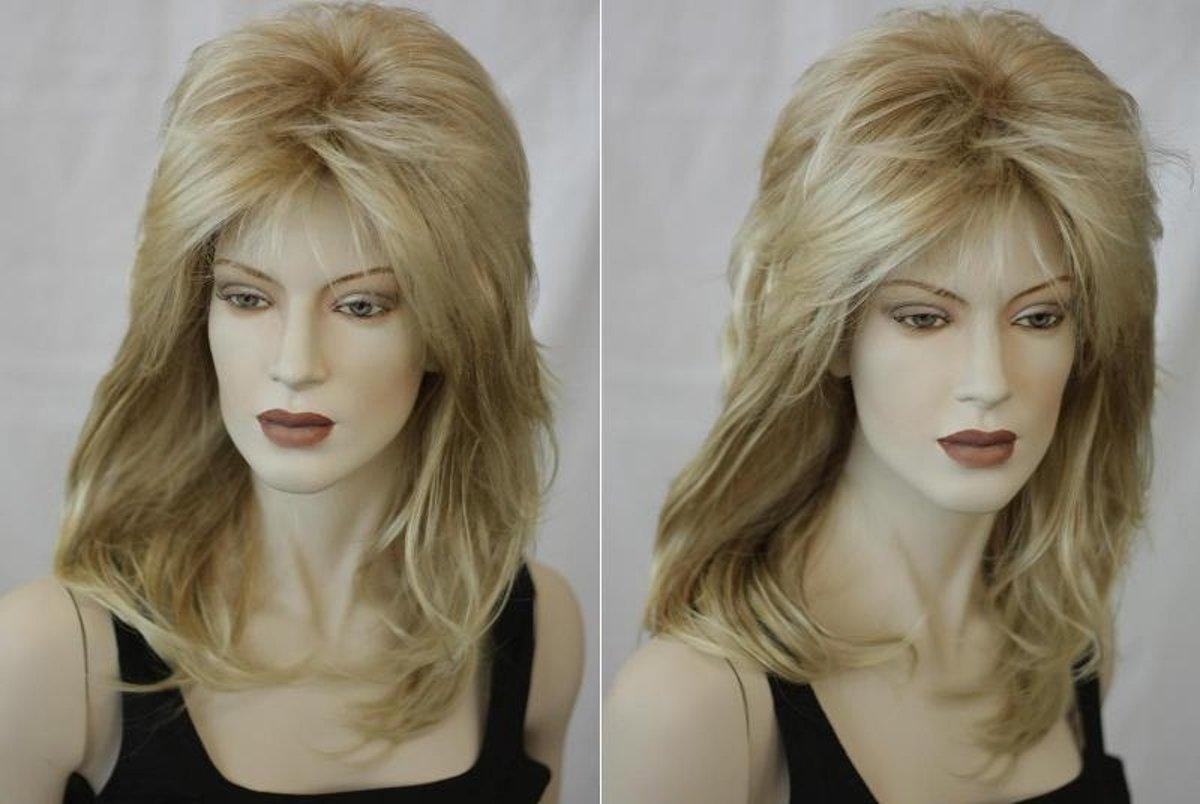 Afbeelding van product Kanekalon  Halflange Pruik Blond Haar Ca 55cm