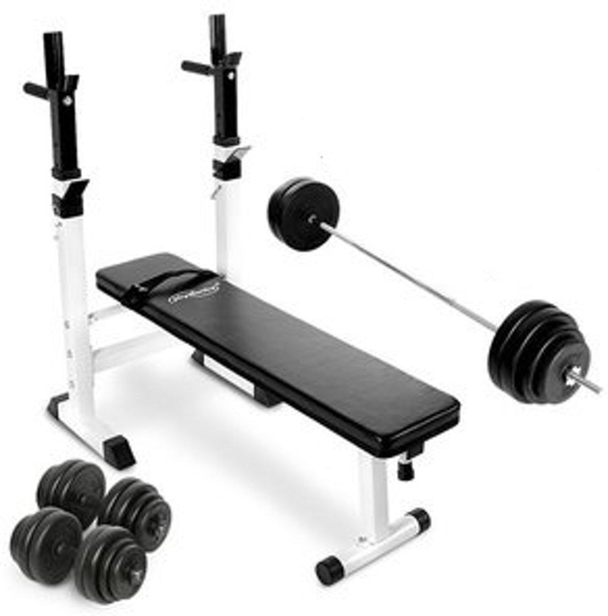 Powerlift bank - halterstang - Dumbells - Gewichten - 83.5 kG kopen