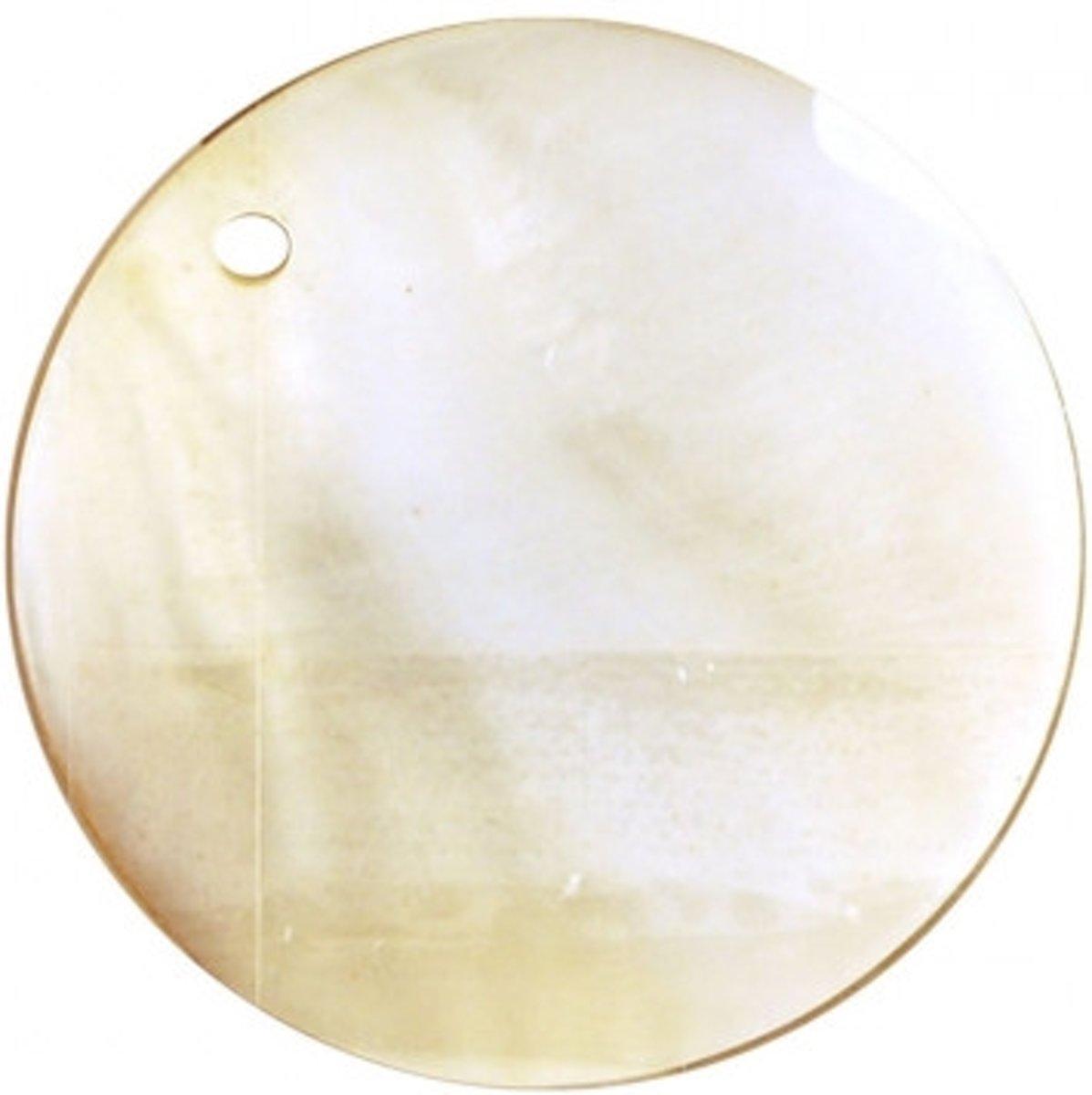 Afbeelding van product Buttons ass. 1 pk. a 2 st. naturel round river shell dangles