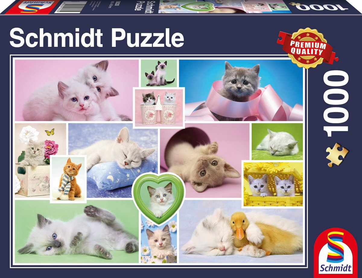 Knuffel Katten, 1000 stukjes Puzzel