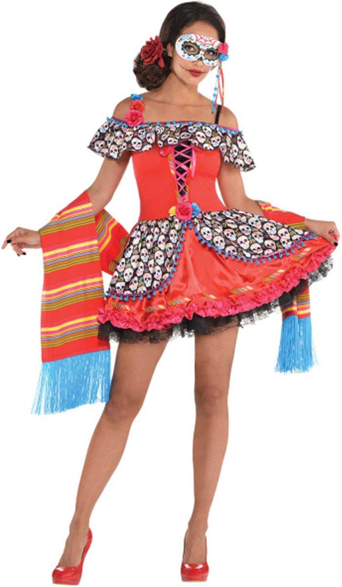 Afbeelding van product Ladies Costume Senora Sugar Skull Size M  - maat M