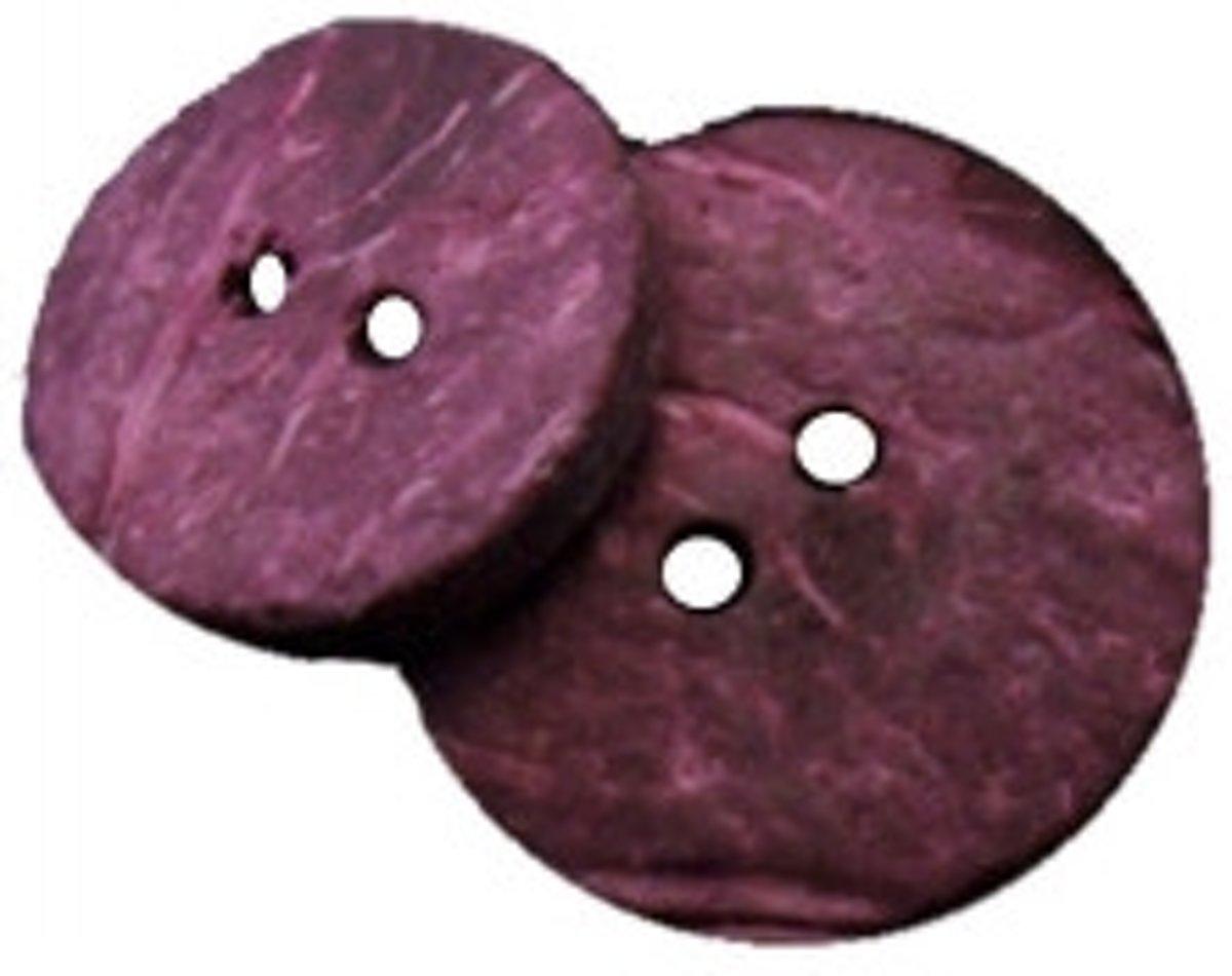 Afbeelding van product Natural buttons 1 pk. wood plum