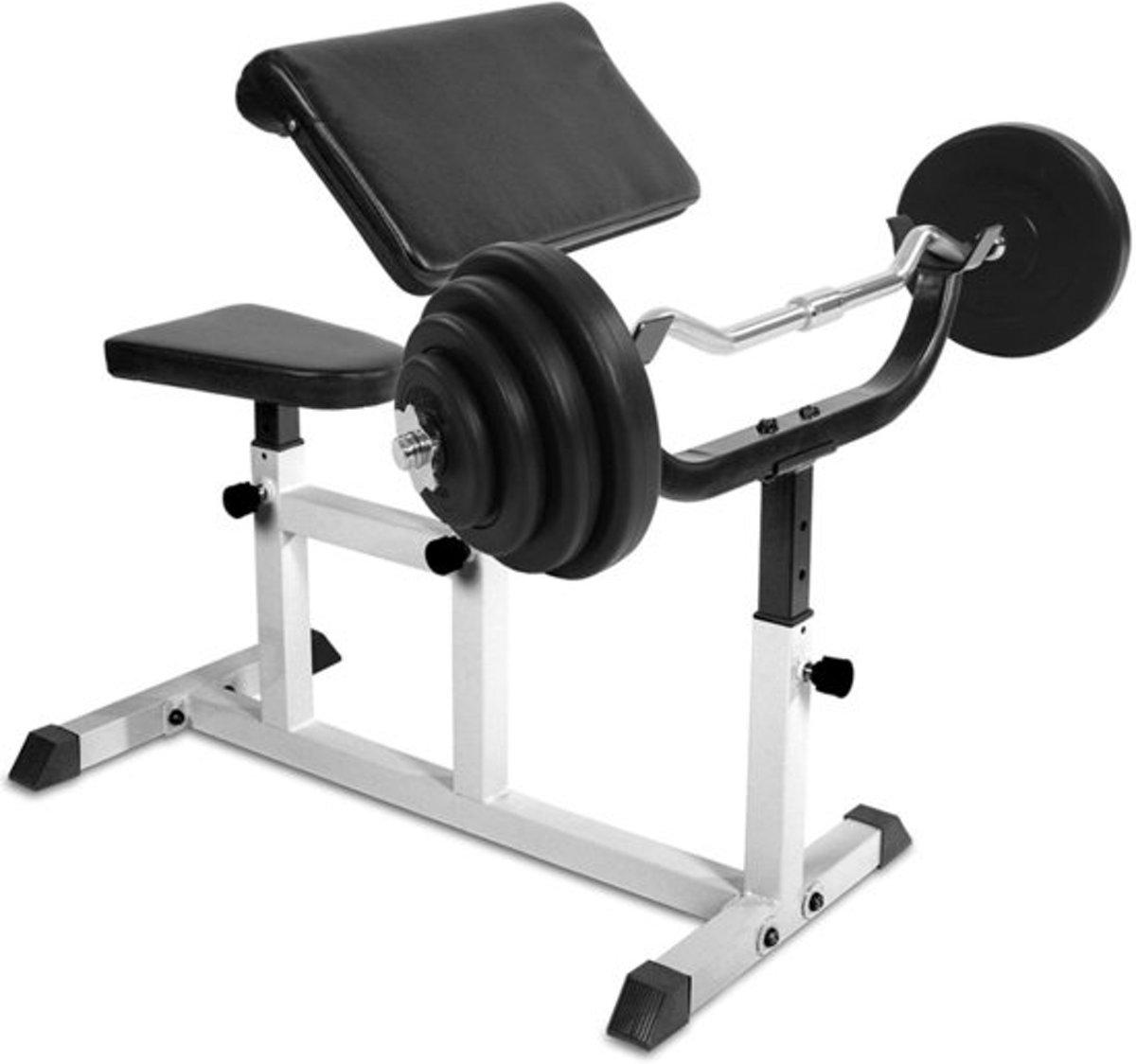 Fitnessbank Biceps Triceps - Curlstang - Gewichten - 23 kG kopen