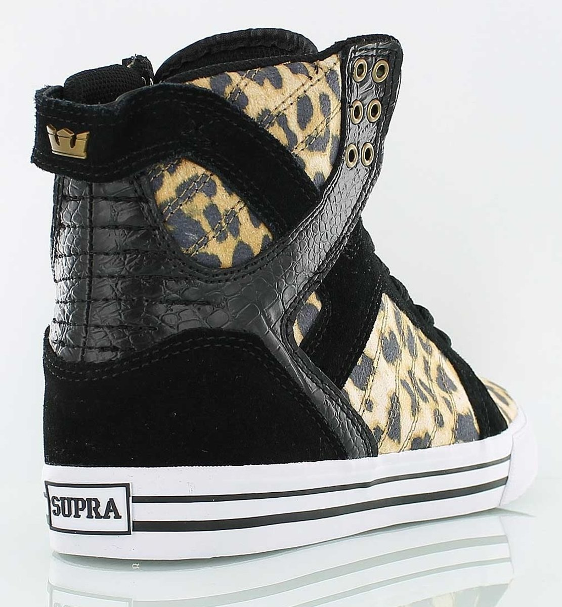 Supra Chaussures Skytop Léopard / Noir Taille 36 1Ly2W