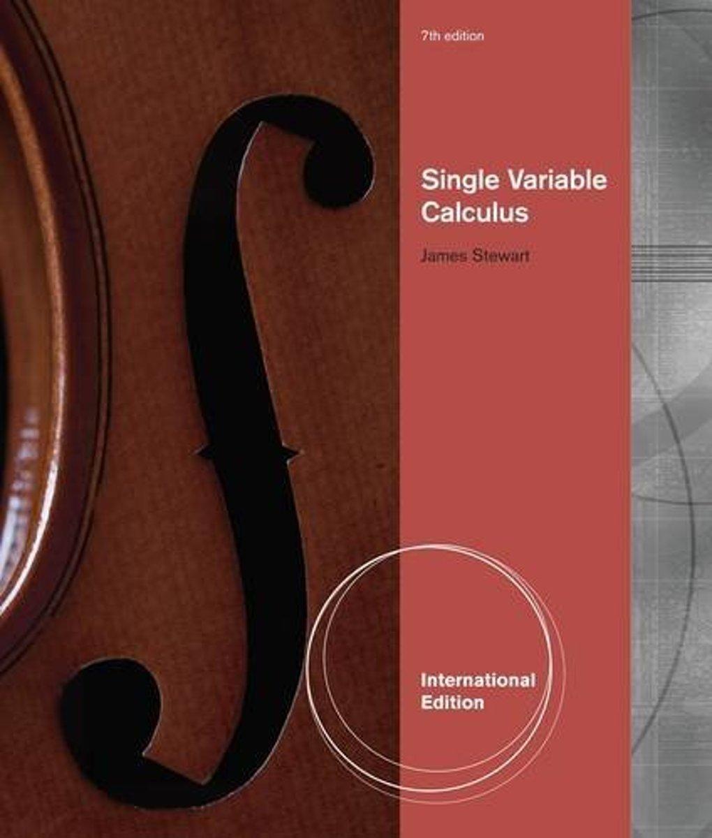 bol.com   Single Variable Calculus, International Metric Edition    9780538498852   James Stewart.