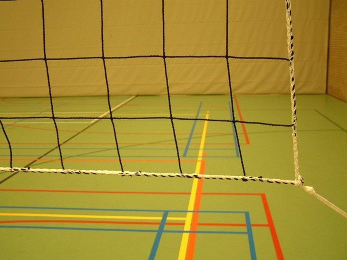 KWD Volleybalnet 2,0 mm Polyethyleen - Zwart - Afmeting 9,5 x 1,0 meter kopen