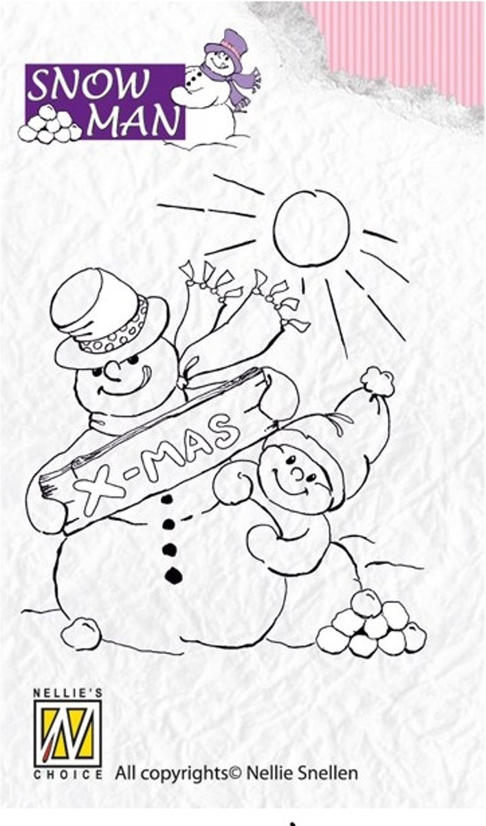 Clearstamp - Snowmen - Snowy Christmas Wishes - SNM003
