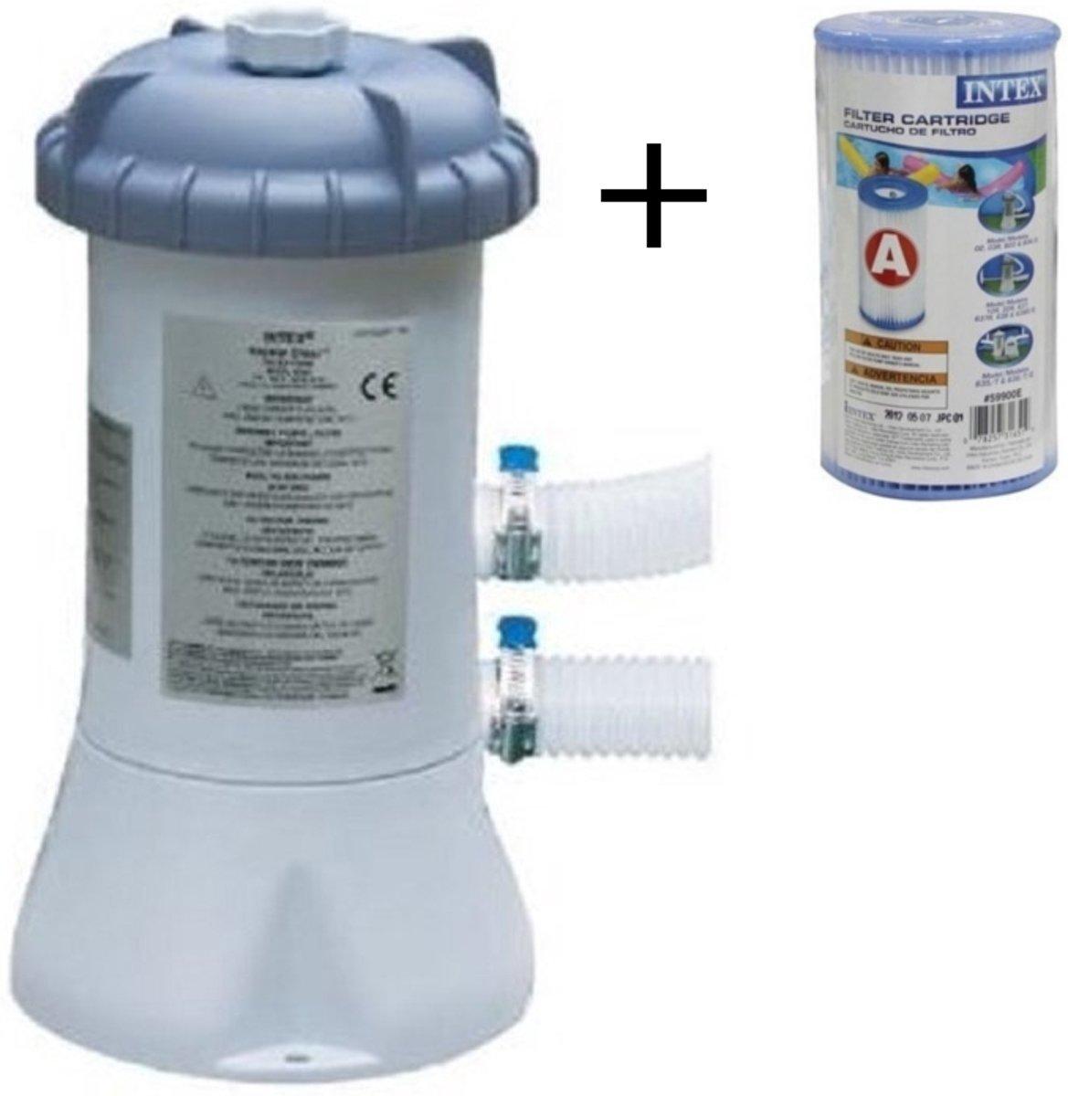 Intex Zwembad Filterpomp 3407 L/uur – NU met reparatiesetje