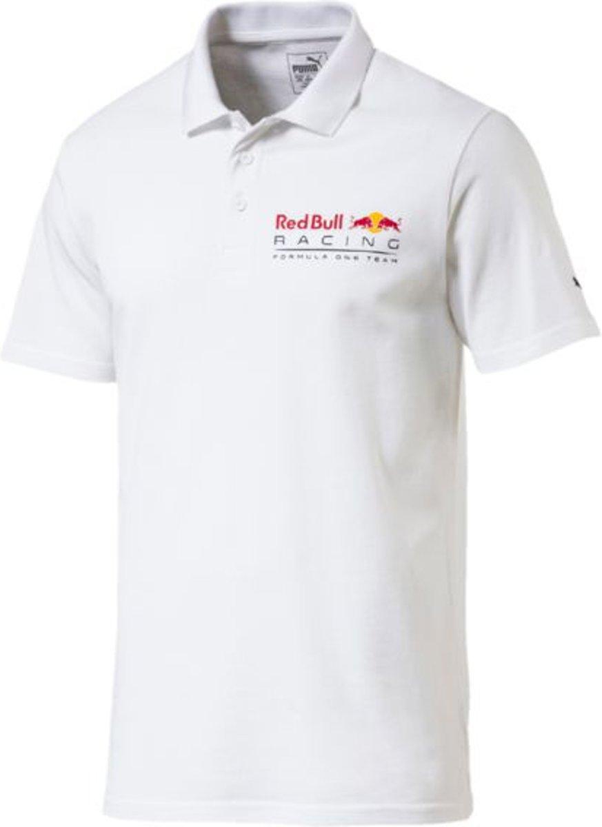 PUMA Red Bull Racing Logo Polo Heren - Puma White