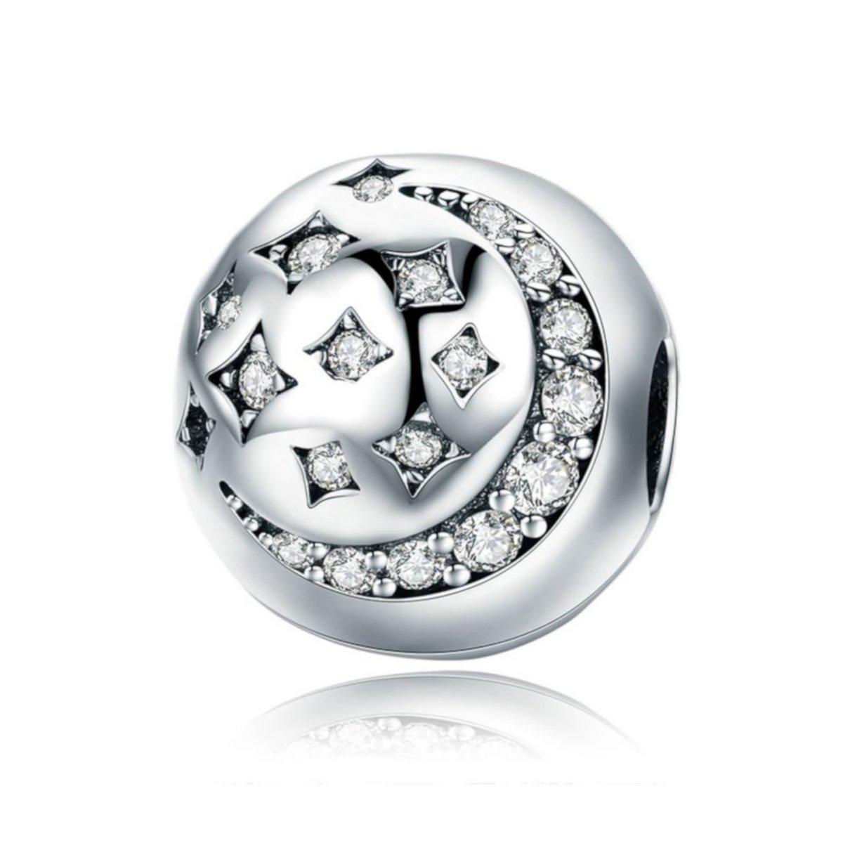 Zilveren clip Maan en ster kopen