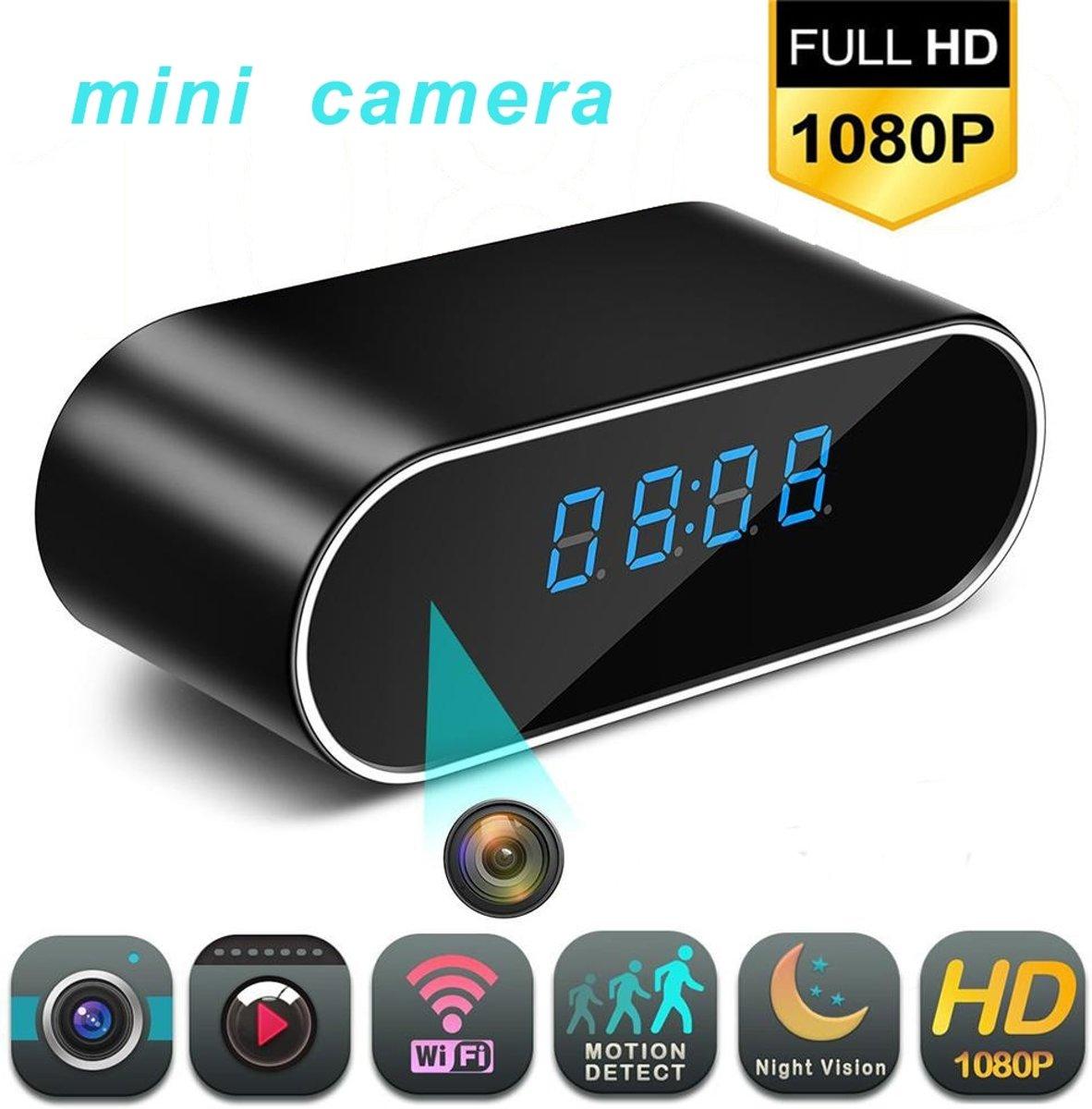 Mini spy Camera- wekker- met nachtzicht en bewegingsdetectie- 1080p kopen