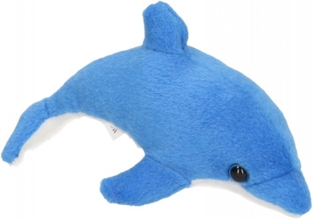 69d8fb15c3ef77 bol.com | Pluche knuffel dolfijn blauw 15 cm, Merkloos | Speelgoed