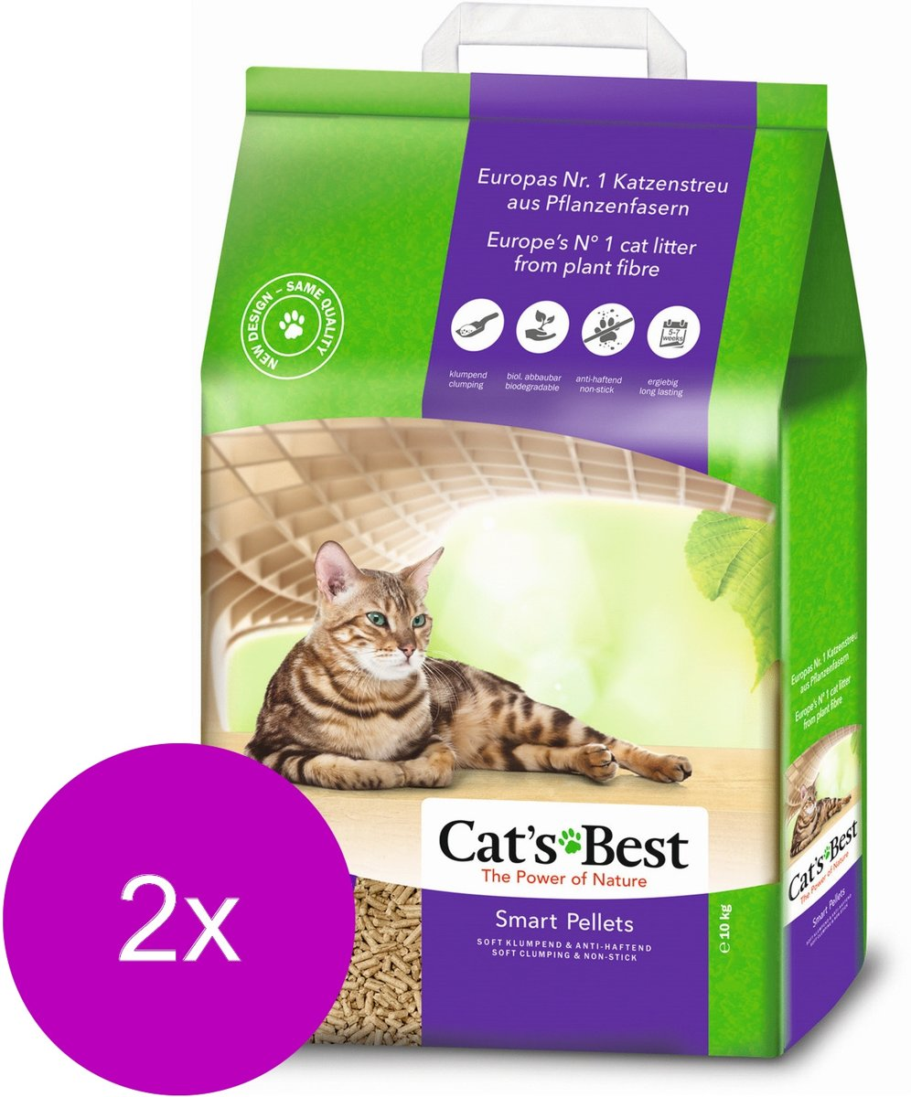 Cat's Best Smart Pallets - Kattenbakvulling - 2 x 20 l kopen