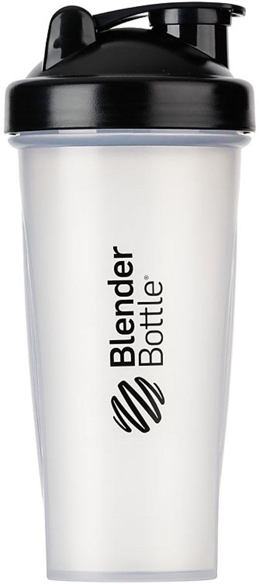 BlenderBottle Classic - Eiwitshaker / Bidon - 820ml - Transparant ZWART kopen