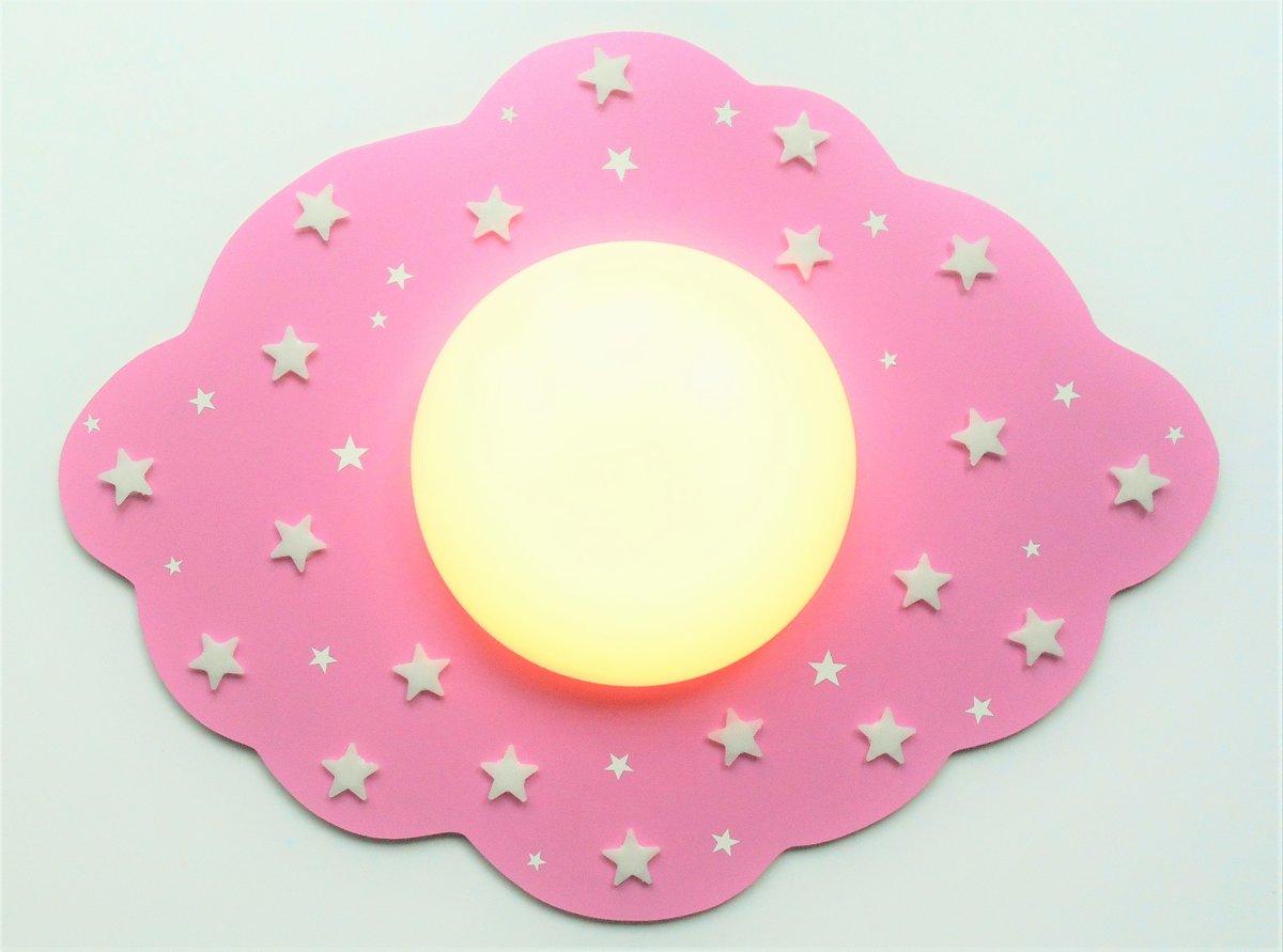Kinderkamer Lamp Roze : Top honderd funnylight kids lamp led wolk roze mooie