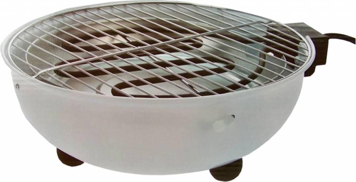 Elektrische ronde tafelbarbecue (Wit) kopen