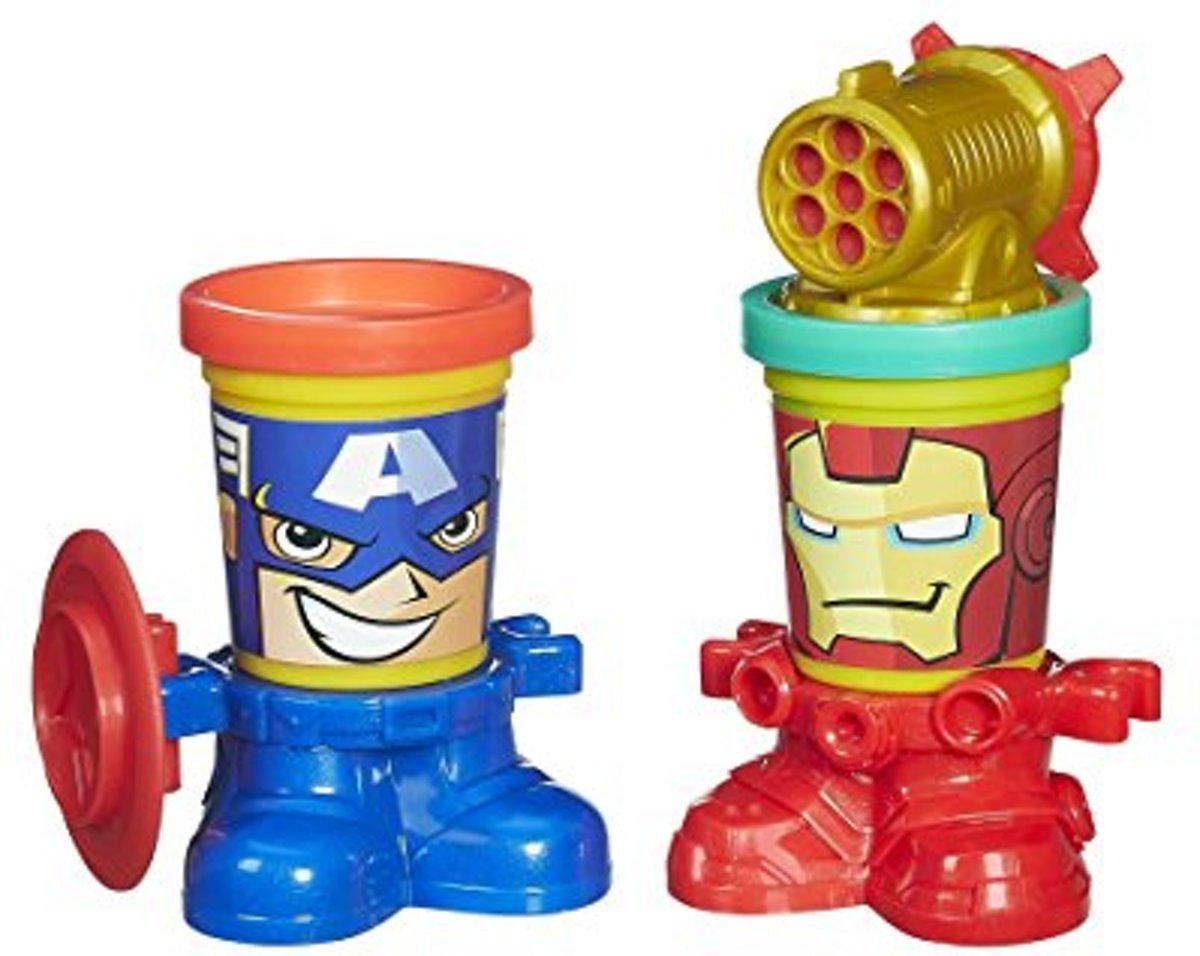 Play-Doh Can Heads Captain America en Iron man Marvel Avengers
