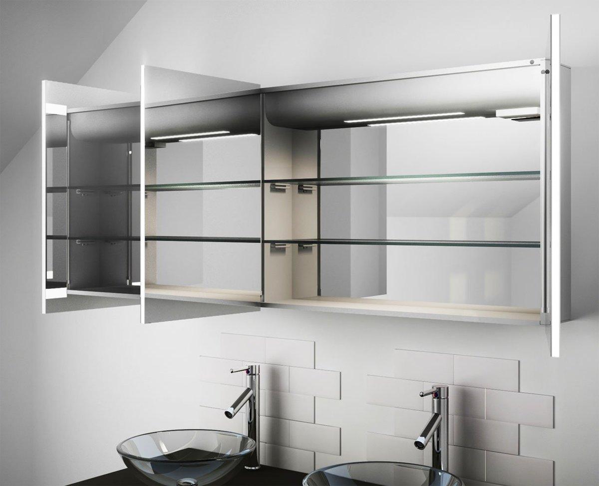 Hoge Spiegelkast Badkamer : Bol badkamer spiegelkast met design verlichting
