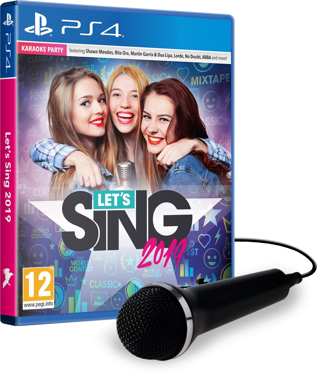 Let's Sing 2019 + Microphone UK PlayStation 4