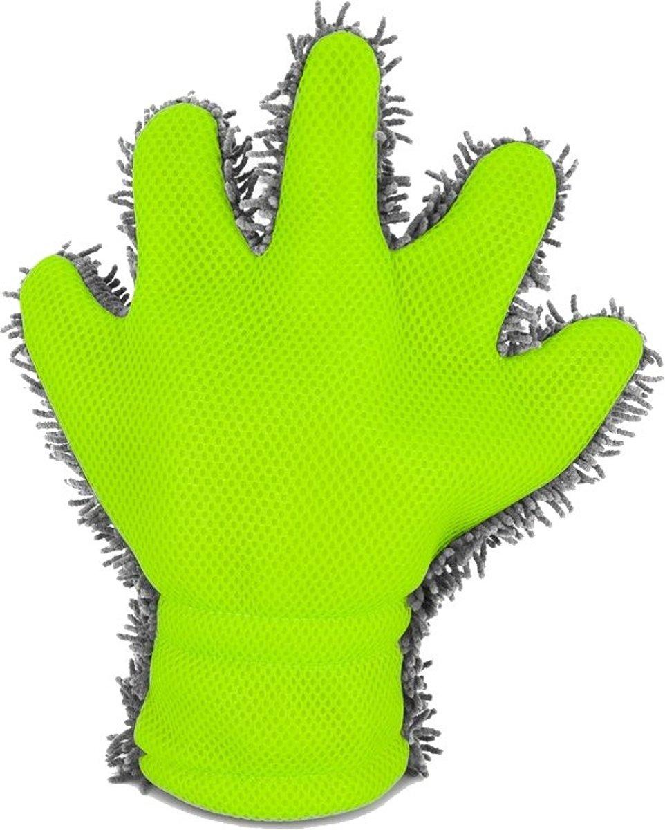 Autostyle Dubbelzijdige Washandschoen 30 X 25 X 3 Cm Grijs/groen kopen