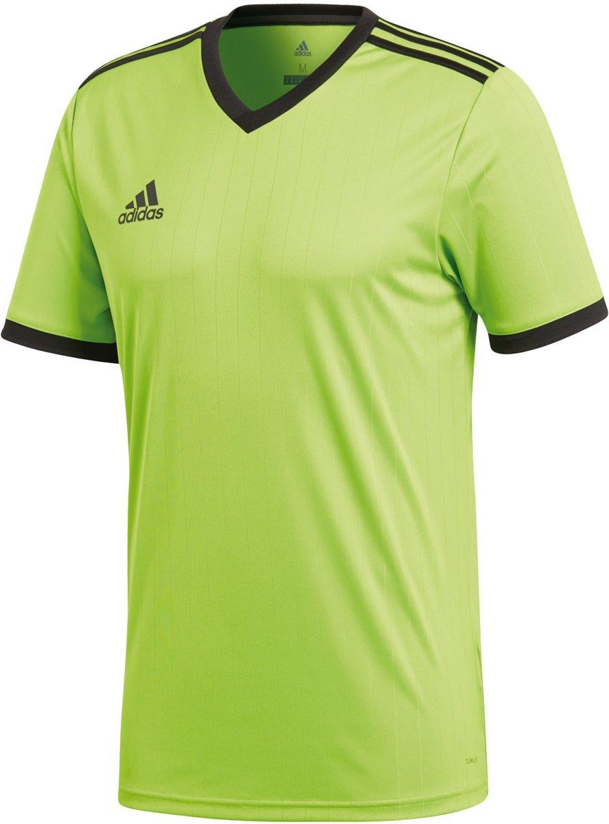 adidas Tabela 18 SS Jersey Teamshirt Heren Sportshirt Maat L Mannen groenzwart