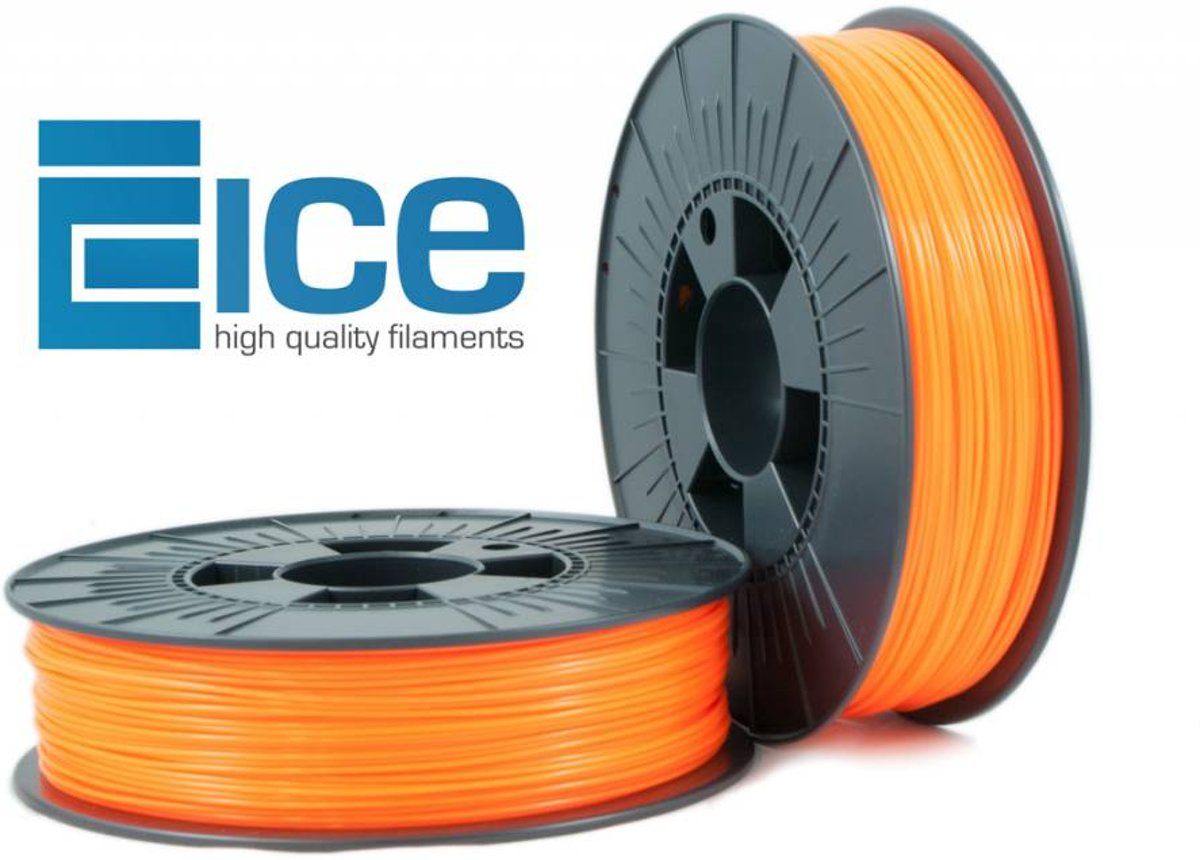 ICE Filaments PLA 'Fluo Obstinate Orange'