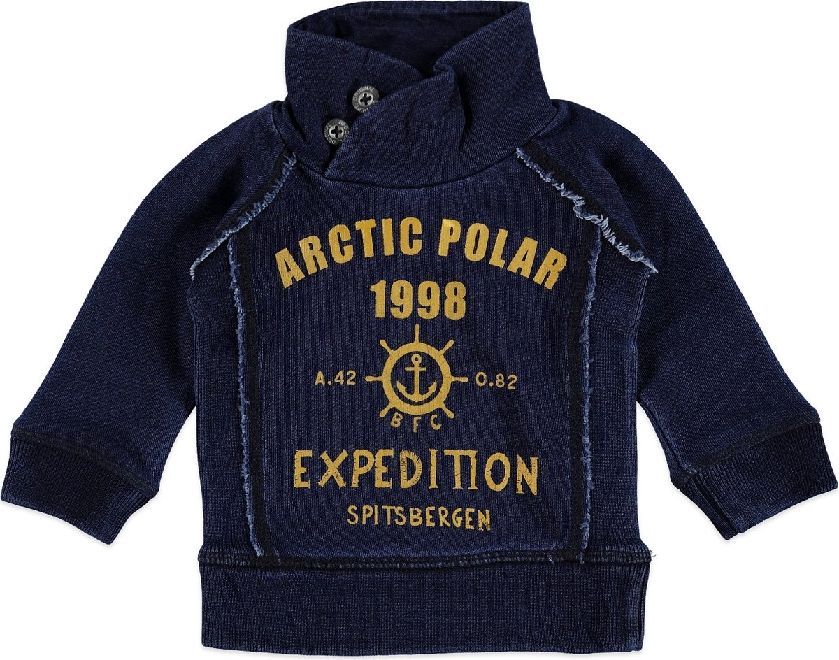 Babyface Jongens Sweater - BLAUW - Maat 74