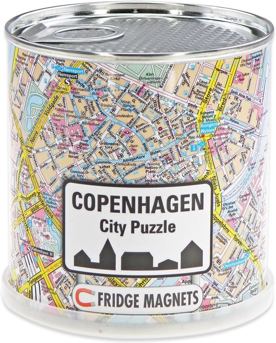 City Puzzle Kopenhagen - Puzzel - Magnetisch - 100 puzzelstukjes