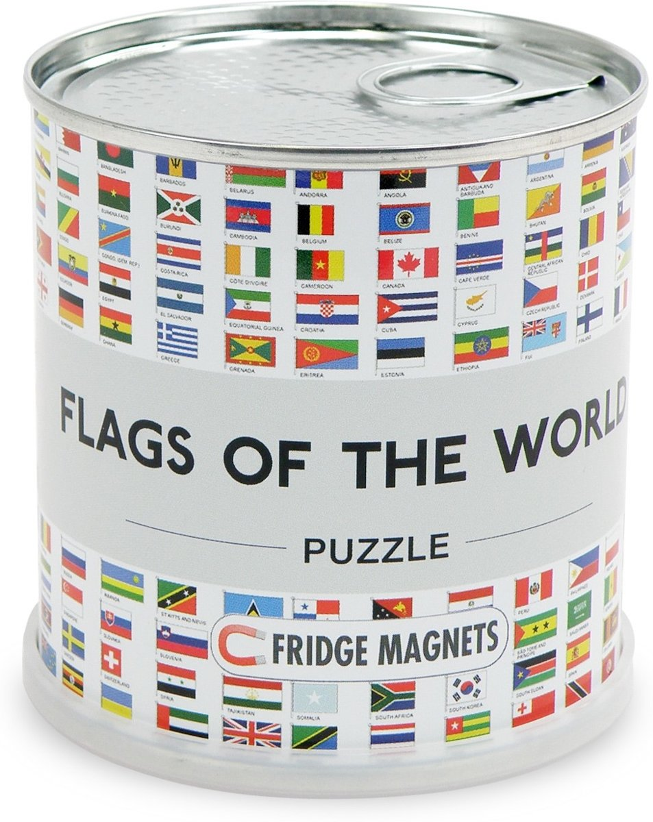 Flags of the world magnetic puzzle: 100 pieces