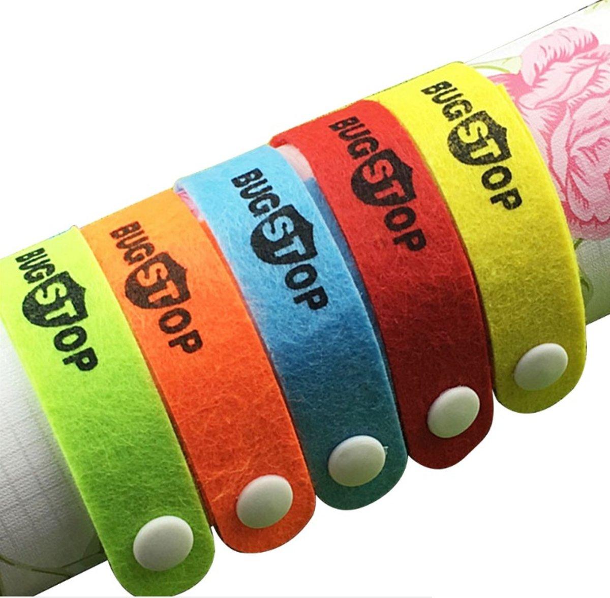 0be0c7652f4 10 stuks Anti Muggen Armbanden / Deet- en gifvrij / Geschikt voor kinderen  en volwassenen