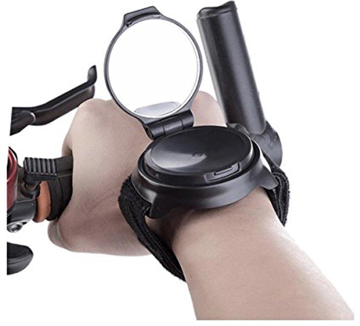 Fietsspiegel armband 360º roterend- achteruitkijkspiegel fiets - mountainbike accessoires - fietsspiegelpolsband – fiets armspiegel