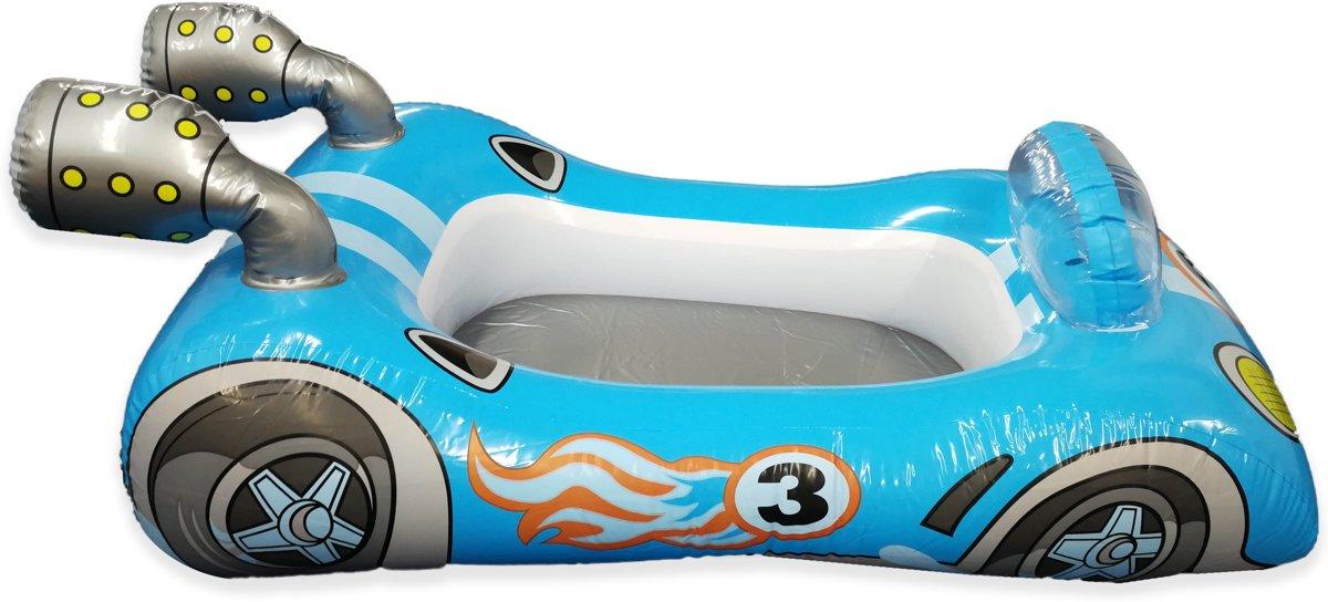 Opblaasbare Raceauto voor op het Strand of Zwembad – 69x107x30cm | Waterspeelgoed | Zwembad Opblaasfiguur | Luchtbed