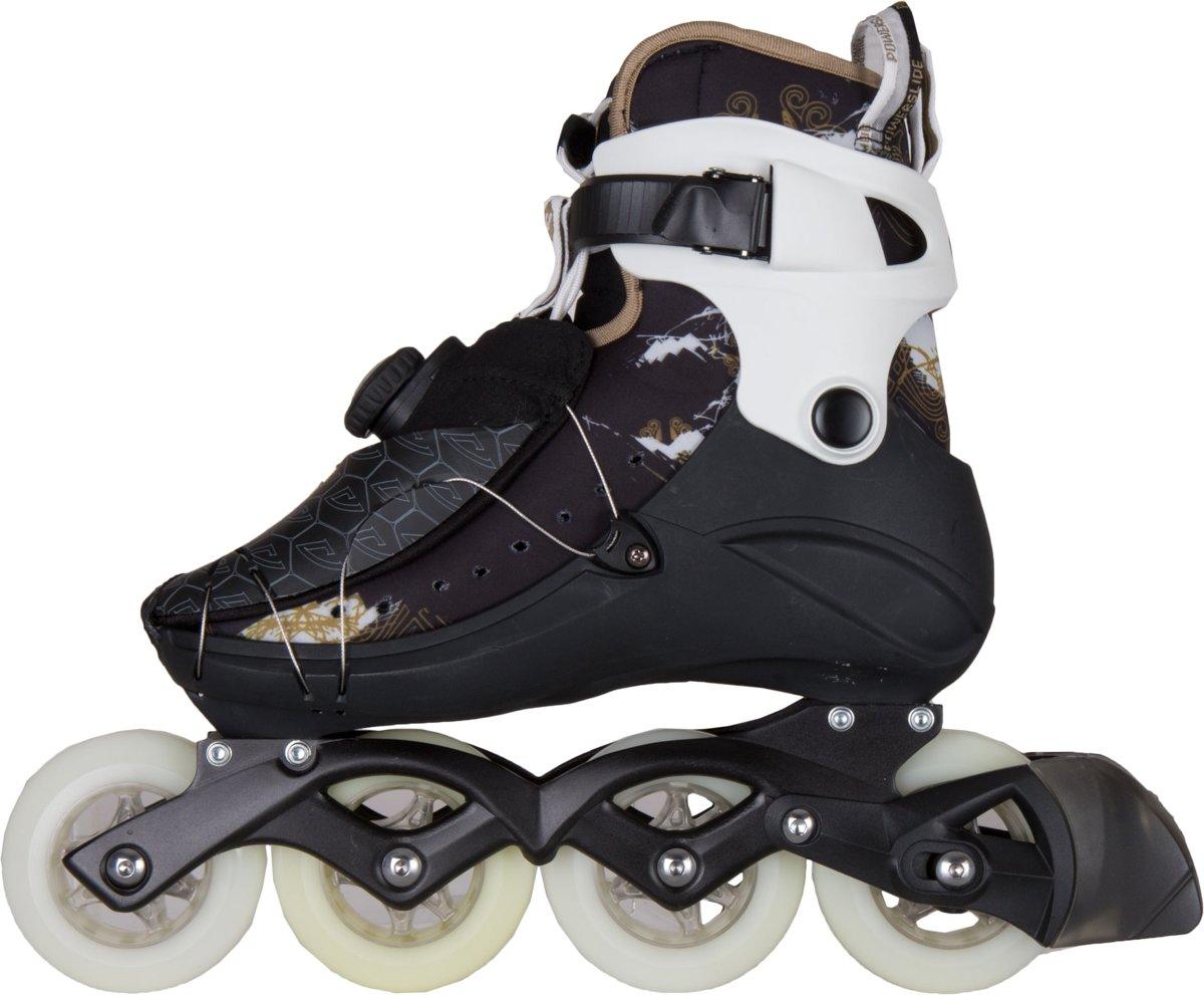 d9c46bf8473 bol.com | Powerslide Vi 84 Pure Inline Skate Dames Inlineskates - Maat 39 -  Vrouwen - zwart/wit/goud