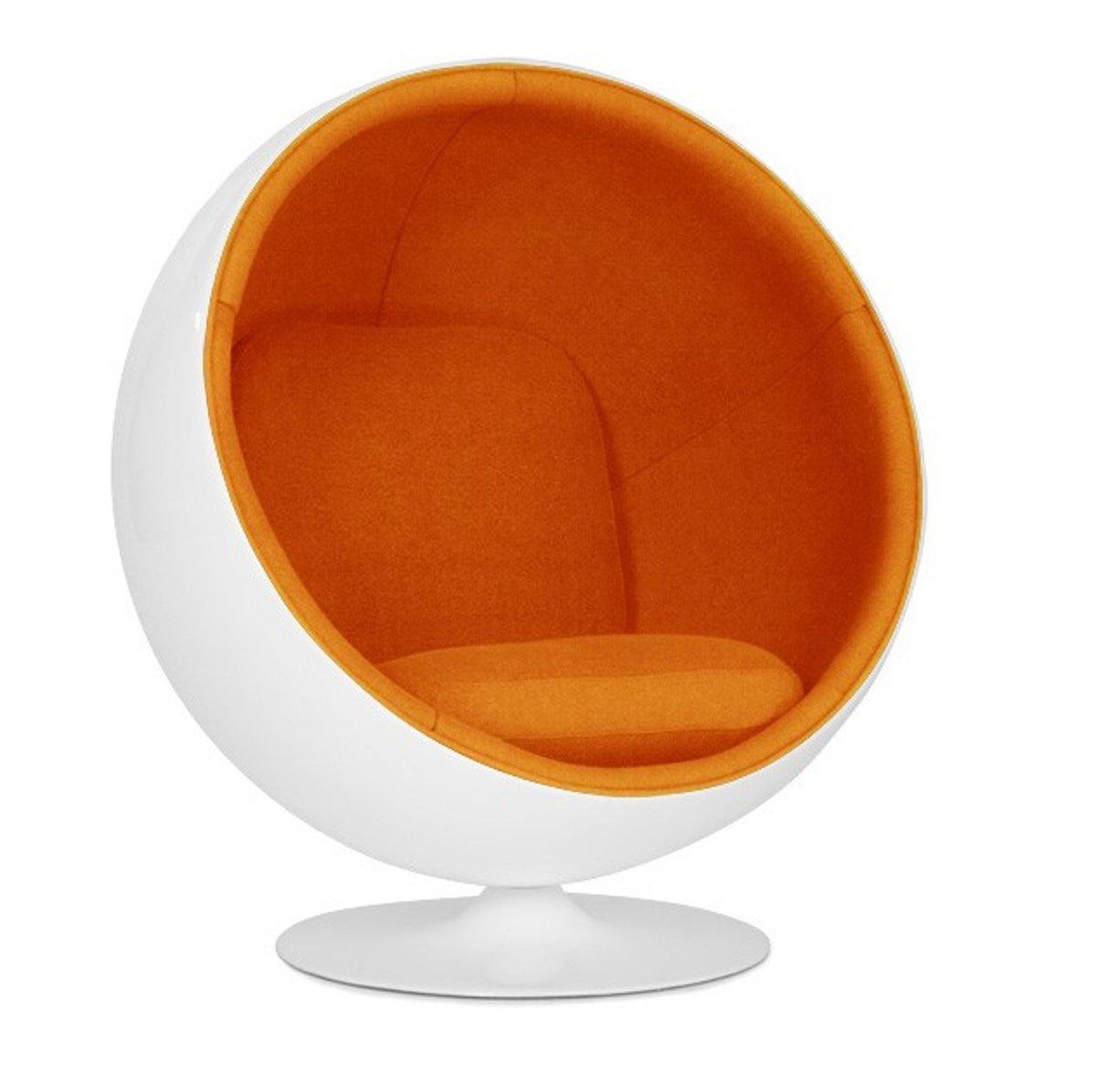 lounge stoel Ball Chair Glasvezel wit kopen