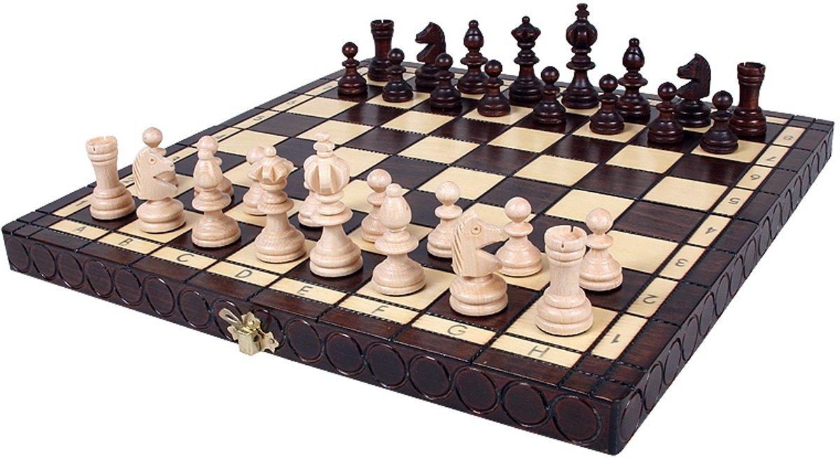 schaakcassette 35x35cm (koningshoogte 65cm)